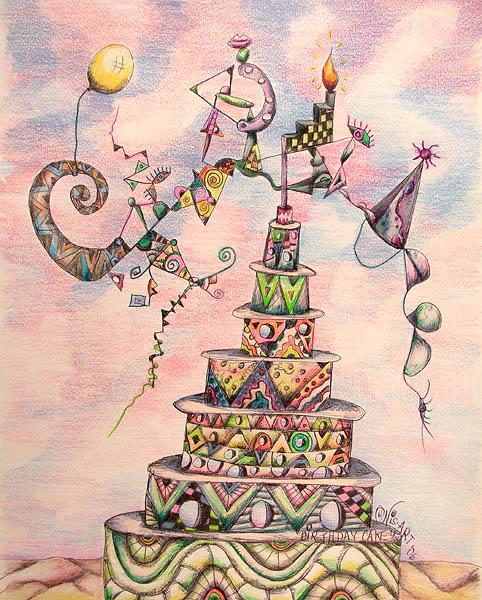 Artwork of Ron Nisar Birthday Cake