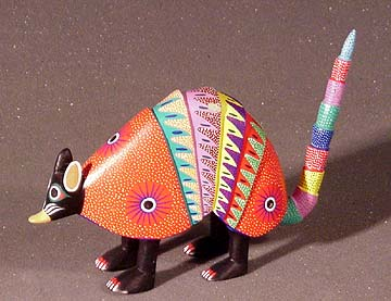 Williams gallery west folk art mexico oaxacan armadillo for Oaxaca mexico arts and crafts